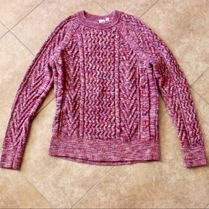 GAP THICK WARM SWEATER TOP LONG SLEEVE PURPLE PINK